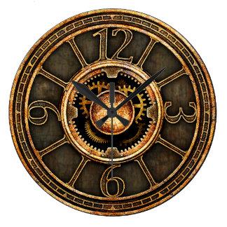 Steampunk vintage v2 grande horloge ronde