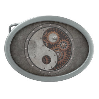 Steampunk Yin Yang Boucle De Ceinture Ovale