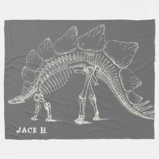 Stegosaurus aux os de dinosaure maximum gris couverture polaire