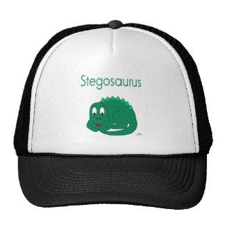 Stegosaurus mignon de lt dinosaure vert de bébé casquette de camionneur