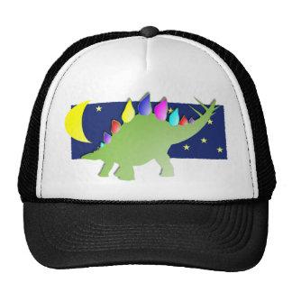 Stegosaurus pendant la nuit avec la lune et les ét casquette de camionneur