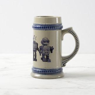 stein bleu de robots chope à bière