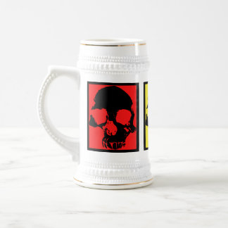 Stein de bière de crânes d'art de bruit rétro chope à bière