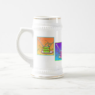 Steins de bière - gâteau d'art de bruit chope à bière