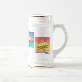 STEINS de BIÈRE - morceau d'art de bruit de tarte Chope À Bière