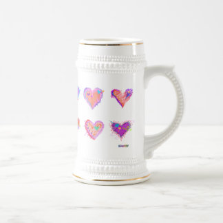 Steins, tasses givrées - coeurs fous 2 d'art de br