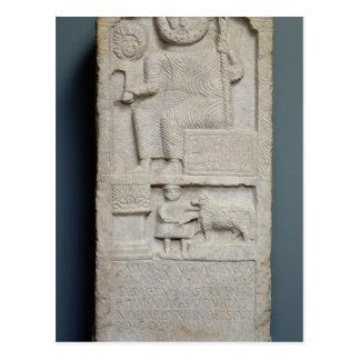 Stele consacré à Saturn, d'EL-Ayaida Carte Postale