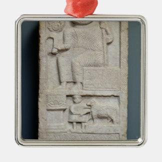 Stele consacré à Saturn, d'EL-Ayaida Ornement Carré Argenté