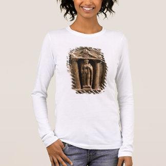 Stele votif de marbre et de grès avec le figu t-shirt à manches longues