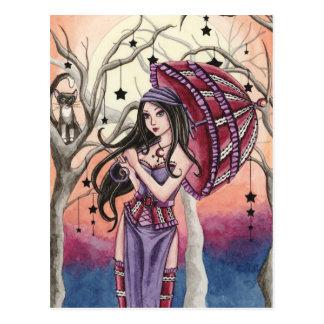 Stella - carte postale de sorcière