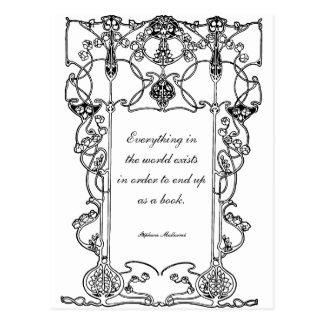Stéphane Mallarmé on Books (English) Cartes Postales