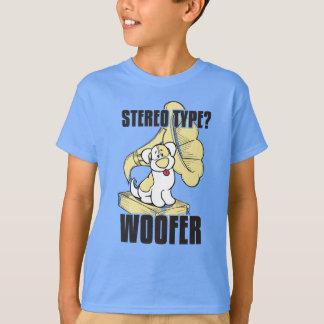 Stéréo de chien t-shirt