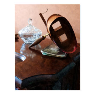 Stereopticon avec le bol en verre carte postale