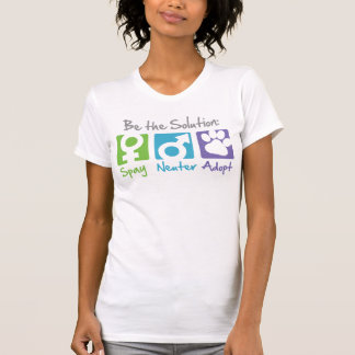 """""""Stérilisez, changez, adoptez"""" le T-shirt"""