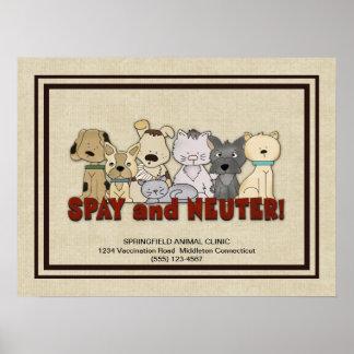 Stérilisez et changez vos animaux familiers posters