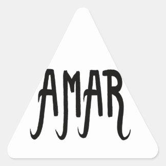 Sticker Amour #11 Sticker Triangulaire