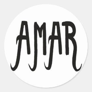 Sticker Amour #9 Sticker Rond