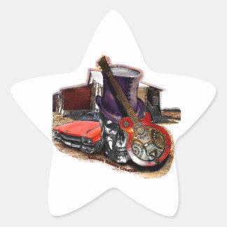 sticker autocollant étoile BLUESROCK ATTITUDE