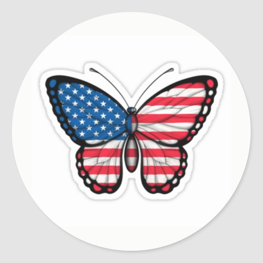 sticker butterfly USA