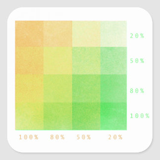 Sticker Carré 100% (vert et ocre)