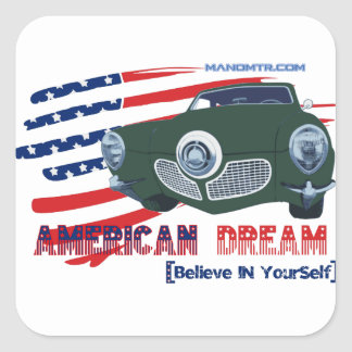 Sticker Carré 1951 STDB le rêve américain