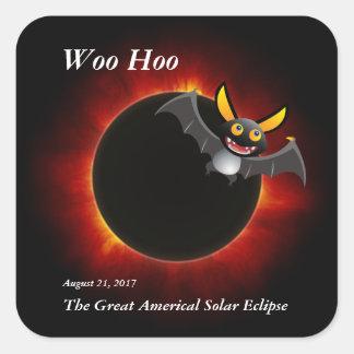 Sticker Carré 2017 éclipse solaire, édition de vampire
