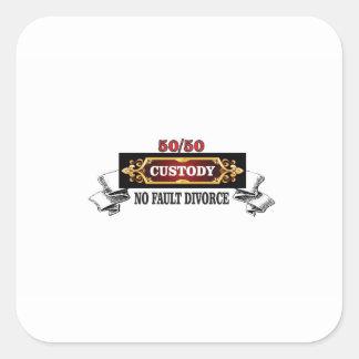 Sticker Carré 50 50 droits de pères,