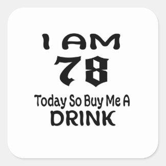Sticker Carré 78 achetez-aujourd'hui ainsi moi une boisson