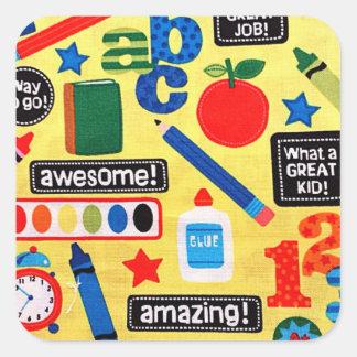 Sticker Carré ABC instruisent stupéfier