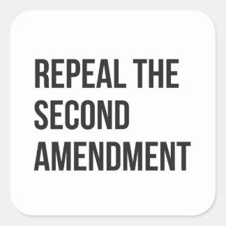 Sticker Carré Abrogez le deuxième amendement - feuille