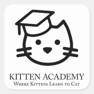 Sticker Carré Académie de chaton - les chatons apprennent à