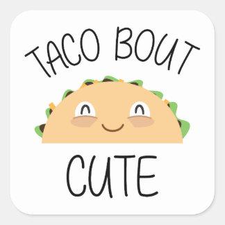 Sticker Carré Accès de taco mignon