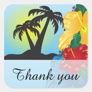 Sticker Carré Accueil à un beau paradis tropical