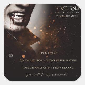 Sticker Carré Adhésif pour pare-chocs spécial #1 de Nocturnia