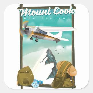 Sticker Carré Affiche de voyage de la Nouvelle Zélande de