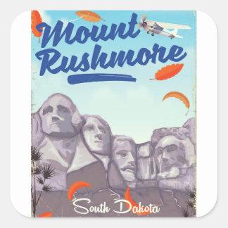 Sticker Carré Affiche vintage de voyage de style du mont