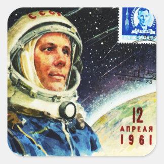 Sticker Carré ÂGE d'ESPACE CLASSIQUE des années 1960