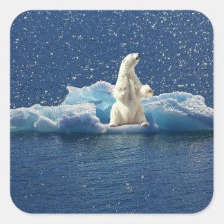Sticker Carré Ajoutez le SLOGAN pour sauver la glace arctique de