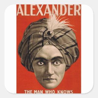 Sticker Carré Alexandre sait