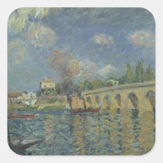 Sticker Carré Alfred Sisley   le pont