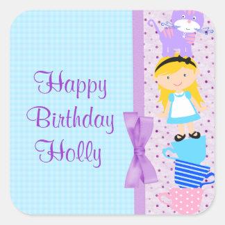 Sticker Carré Alice dans la célébration d'anniversaire du pays