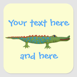 Sticker Carré Alligator