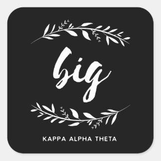 Sticker Carré Alpha grande guirlande du thêta   de Kappa