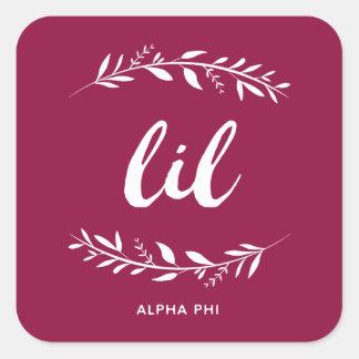 Sticker Carré Alpha guirlande du phi   Lil