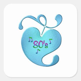 Sticker Carré amour de la musique 80s