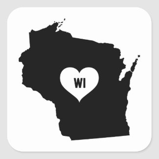 Sticker Carré Amour du Wisconsin