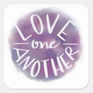 Sticker Carré Amour Main-En lettres un un autre de Bokeh