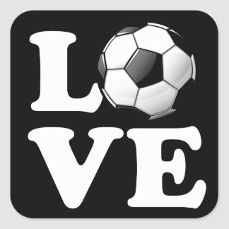 Sticker Carré Amour pour le ballon de football brillant du