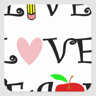 Sticker Carré amour vivant teach3