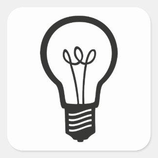 Sticker Carré Ampoule noire simple pour beaucoup d'idées